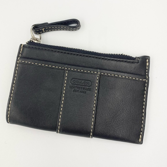 Coach Black Leather Coin/Change Wallet